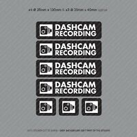 7 x Dash Cam Recording Stickers CCTV In Car Video Camera Decal Sticker - SKU3152