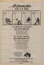 Widowmaker Nazareth UK Tour advert 1976