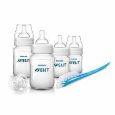 Philips Avent 4 Bottle Newborn Starter Set, Bottle & Teat Brush & A Soother