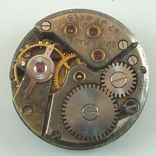 Vintage Movado Mechanical Wristwatch Movement - Parts Repair