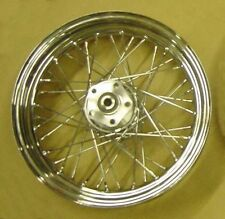 Chrome Laced Rear Wheel fits Harley Softail