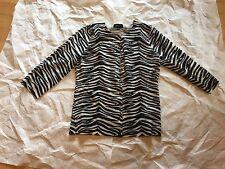 Aqua zebra cashmere sweater