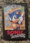 Sega Genesis - Sonic The Hedgehog - (RETAIL) Game Box & Game - AUTHENTIC TESTED