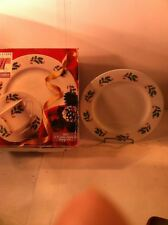 TABLETOPS UNLIMITED--HOLLY--12 PC DISHWARE SET--CHRISTMAS--FREE SHIP--NEW IN BOX