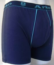 MENS BOYS FUN DESIGNER UNDERWEAR BLUE BOXER LONG NO FLY 2B3 MEDIUM A1