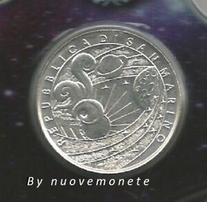 """SAN MARINO 5 euro agento 2009 """"Anno internazionale dell' Astronomia"""" FDC"""