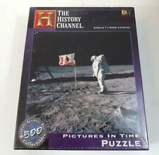 Apollo 11 Moon Landing Puzzle Pictures in Time 18 x 18 New History Channel