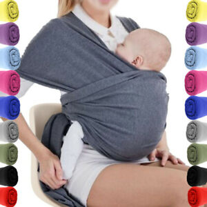 9 COLOURS BABY WRAP CARRIER SLING STRETCHY - Breastfeeding Adjustable UK