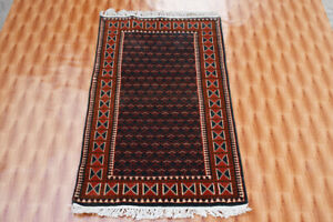 Wool Green Rugs Living Room Mat 2.6'x4' Ft Afghan Oriental Hand Knotted Carpet