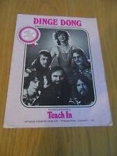 Teach In - Dinge Dong Music Sheet