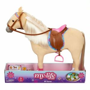 """My Life As 18-inch Poseable Horse Play Set For 18"""" Dolls, 9 Pieces NEW Free Ship"""