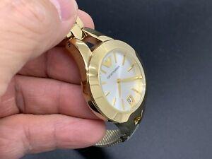 NEW OLD STOCK EMPORIO ARMANI AR-7399 DATE W.R. 3 ATM QUARTZ WOMEN'S WATCH