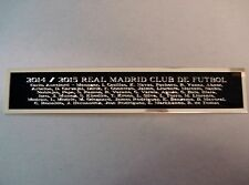2014-15 Real Madrid Nameplate For A Soocer Ball Display Case 1.25 X 6