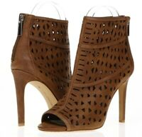 VINCE CAMUTO Womens Kachina Brown Perforated Leather Pumps Booties Size 6.5