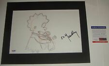 Yeardley Smith Voice of Lisa Simpson signed Orig production drawing PSA/DNA
