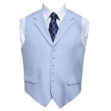 "Irish Linen Waistcoat in Powder Blue 44"" Regular"