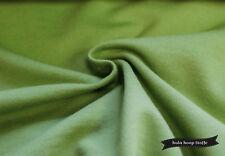 Sweat Stoff Baumwolle, grün, angeraut, Stoffe Meterware, Oeko-Tex 100
