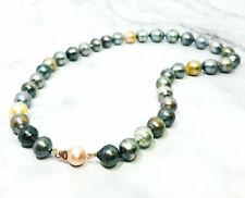 "12-13mm  natural South  Sea Multicolor  Pearl Necklace 18 """