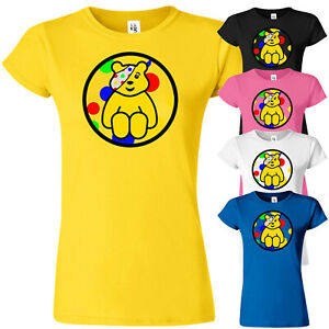 Pudsey Bear Childern In Need T Shirt Spotty Day Ladies Top Tee Charity Fundraise