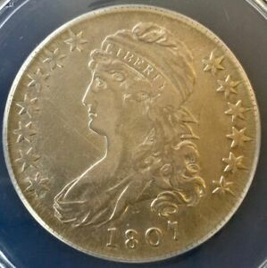 1807 Capped Bust 50C (Rare) 50/20 Large Stars ANACS VF 25