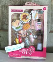 "Our Generation Retro Todays Special Diner Accessories Food Playset 18"" Girl Doll"