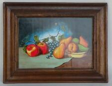 Fruit on Table with Bowl painting, hand made in Peru by R Furniture