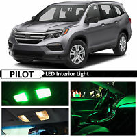 13x Green Interior LED Lights Package Kit Fits 2016-2017 Honda Pilot