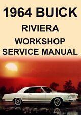 BUICK RIVIERA WORKSHOP MANUAL: 1964