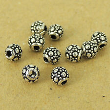 10 PCS 925 Sterling Silver Beads Vintage Barrel Jewelry Making WSP444X10