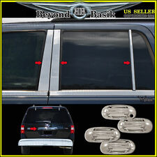 2003-2014 FORD Expedition Chrome Door Handle COVERS+Tailgate+6Pc Pillar Post