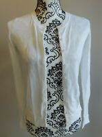OLD NAVY womens white cardigan sweater sz small GREAT FOR THE OFFICE more listed