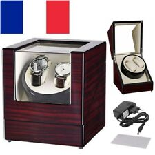 2 Montres Luxe Coffret Watch winder Tourne remontoir automatique Box+EU adapter