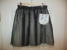 NWT GIRLS SKIRT black lined Sonny Munroe Collection Sonny with a chance sz XL