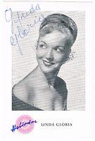 Lynda Gloria - original signierte Autogrammkarte - Roter Mohn - hand signed