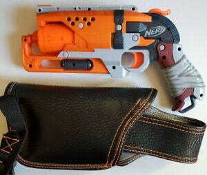 Used Custom Made Holster And Nerf Zombie Strike Hammer Shot Dart Blaster