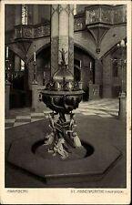 Annaberg Sachsen Erzgebirge AK ~1920/30 Sankt Annenkirche Kirche Taufstein Taufe