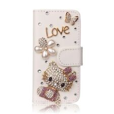 Luxury Bling Diamond Cute Hello Kitty Card Leather Flip Wallet Phone Case Cover