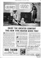 1938 Duo-Therm Imperial Fuel Oil Circulating Heater Vintage Print Ad
