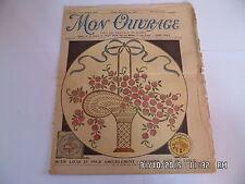 MON OUVRAGE TRAVAUX DE DAMES N°255 10/1933 COUSSINS JETE DE TABLE MOTIF    I29