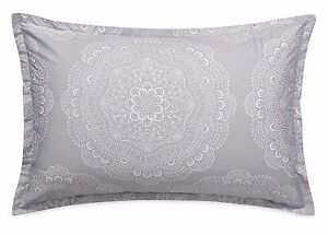 NIP Barbara Barry Lace Crystal Frost Queen Shams (2)