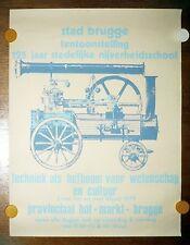 Brügge Plakat Poster 1979 Stad Brugge Tentoonstelling 125 jaar nijverheidsschool