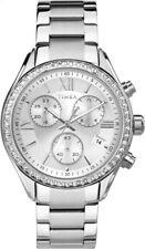 TIMEX Uhr Mia TW2P66800 sportlich eleganter Damen Chronograph aus Edelstahl