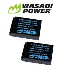 2 x Wasabi Power Battery for Canon LP-E12 and Canon EOS M M10 100D EOS Rebel SL1