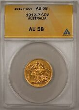 1912-P Australia Sovereign ANACS AU-58