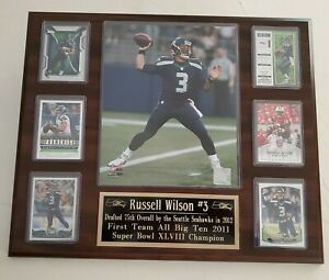 Russell Wilson Seattle Seahawks Plaque