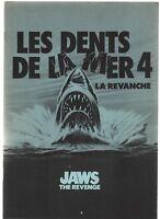 Dossier de Presse. LES DENTS DE LA MER 4. film de  Joseph SARGENT. 1987. TBE