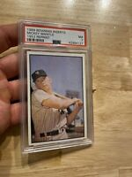 MICKEY MANTLE PSA 7 New York Yankees 1989 Bowman Insert Collector Card Man Cave
