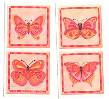 Pink butterflies Butterfly Mirror Tile Cover Decal Mosaic Sticker IdeaStix Bath