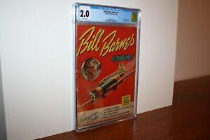 Bill Barnes Comics #1 1940 Street & Smith War Comic Rocket Rooney Begins CGC 2.0