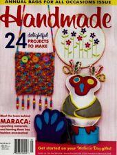 Handmade Vol 34 No 11 Craft Sew Knit Quilt magazine with pattern sheet GUC